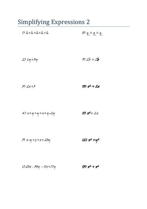 algebra  worksheets  grade  printable