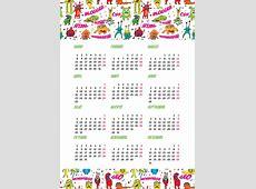 Calendario 2018 en PDF e imprimible gratis con planner en