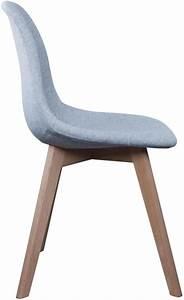 Chaise En Tissu Gris : chaise scandinave en tissu gris et pieds en bois ~ Teatrodelosmanantiales.com Idées de Décoration