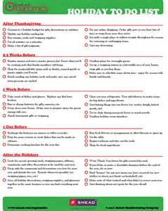 checklist holiday to do list