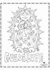 Guadalupe Coloring Lady Catholic Crafts Mary Mother Religious Activities Blessed Sheets Christian Goldsworthy Teske Forrest Icing Sunday sketch template