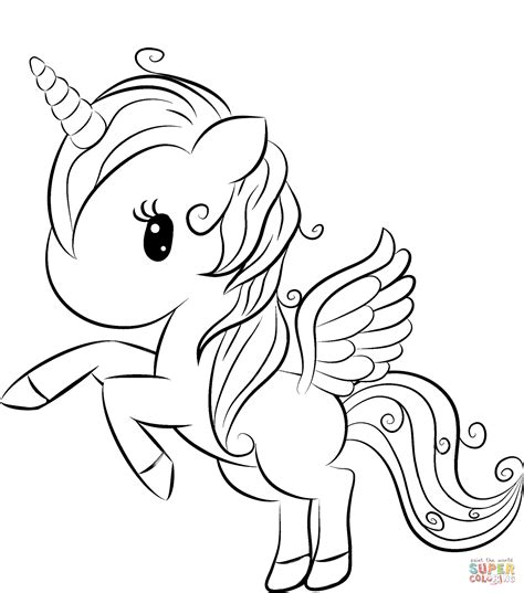 Coloring Pages Unicorn by Unicorn Coloring Page Free Printable Coloring Pages