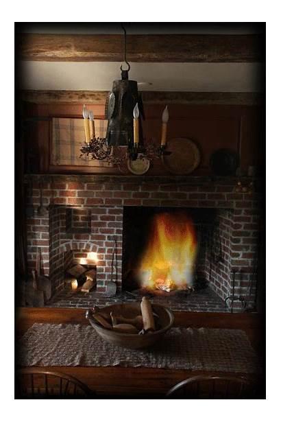 Fireplace Barn American Cozy Farmhouse Wood Early