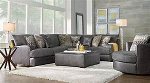 Sectional grey sofa unique dark grey sectional couches 97 for Gray sectional sofa rooms to go