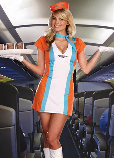 adult sexy air stewardess flight attendant costume