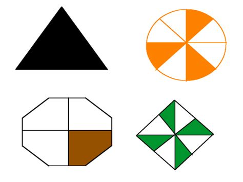 Fractions Of Shapes By Pauljelley  Teaching Resources Tes