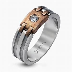 18k white rose gold modern two tone men39s wedding band With modern mens wedding ring