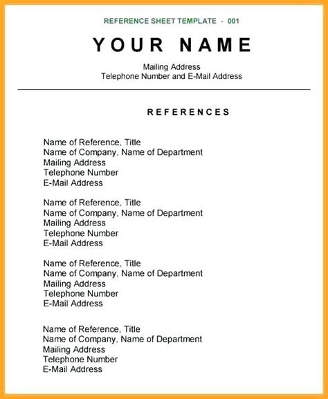 Reference Page For Resume by Reference Page Exle Laperlita Cozumel Best Resume