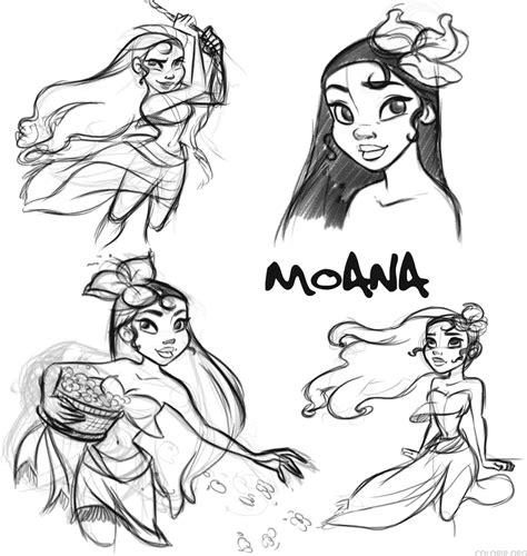 Desenhos a mão de Moana Colorir org