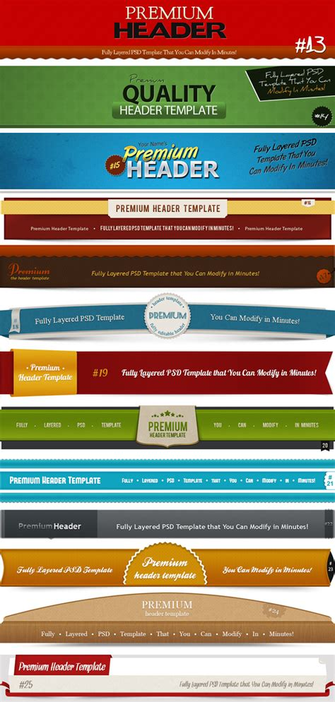 11 Free Web Headers Design Templates Images
