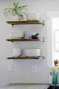 25 best ideas about kitchen shelves on pinterest open With design your kitchen floating kitchen shelves
