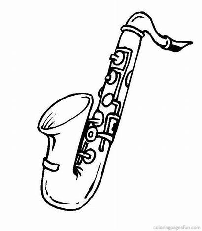 Instruments Coloring Musical Pages Instrument Jazz Recorder
