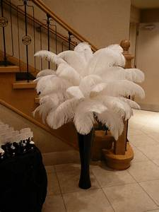 Flower, And, Event, Decor, Ostrich, Feather, Centerpieces, Best, Decor, Moments, In, 2011