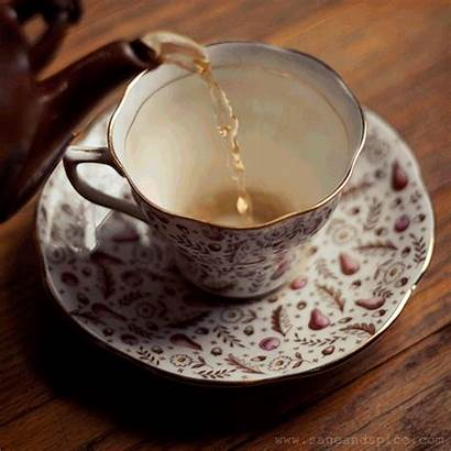 Tea Cup Animated Pouring Cups Coffee Gifs