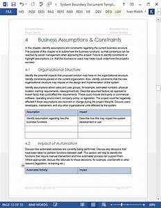 System Boundary Document Template  Ms Word  Excel  Visio