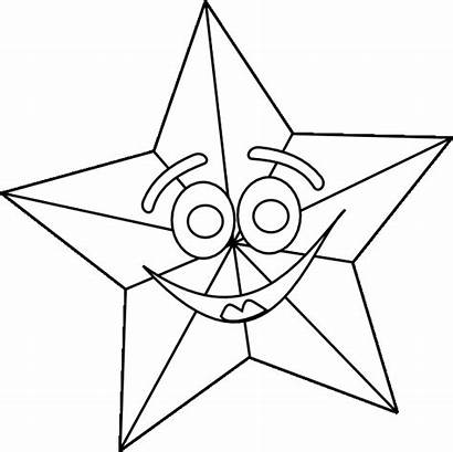 Coloring Star Christmas Pages Outline Stars Shooting