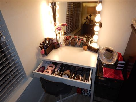 diy hollywood style makeup vanity from ikea claire bear x3