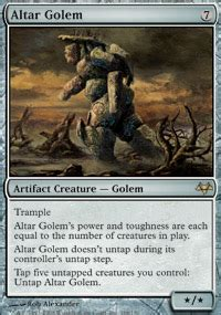 Magic The Gathering Golem Deck by Altar Golem Eventide Magic The Gathering