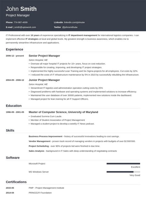 Resume Templates by 20 Resume Templates Create Your Resume In 5