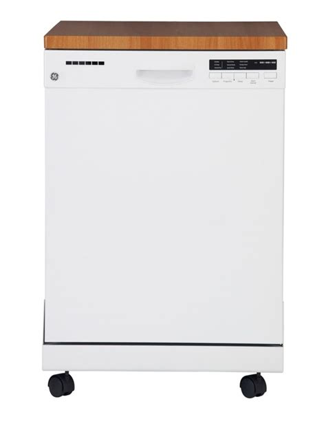Ge 24inch Portable Dishwasher With Stainless Steel Tub In