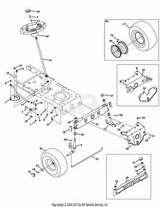 Mtd 13ao785t055  2012  Parts Diagram For Front End Steering