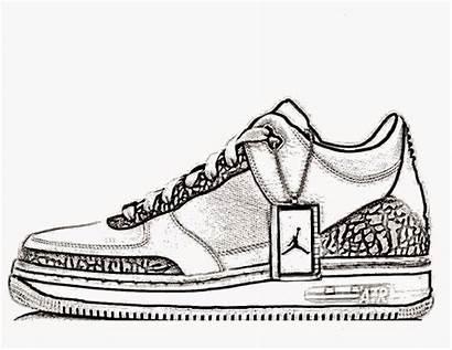 Coloring Nike Shoes Shoe Pages Jordan Jordans