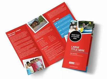 Brochure Camp Summer Template Templates Brochures Fold