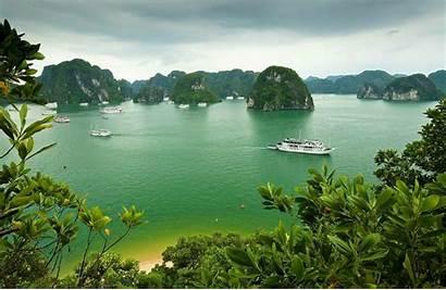 Vietnam Nature Rain Mountain Wallpapers Rock Bay