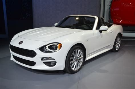 fiat spider white new fiat 124 spider shines from the l a auto show floor