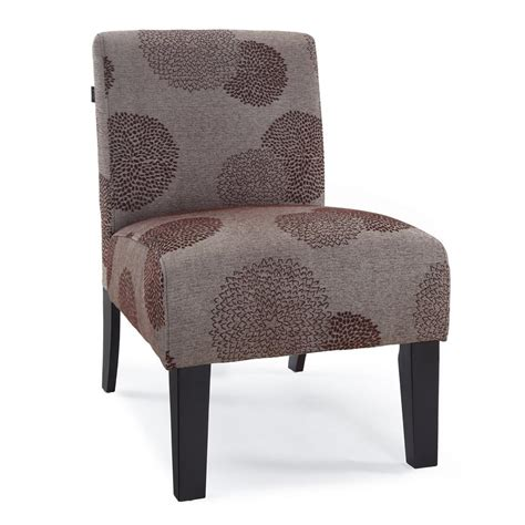 modern contemporary armless upholstered floral accent