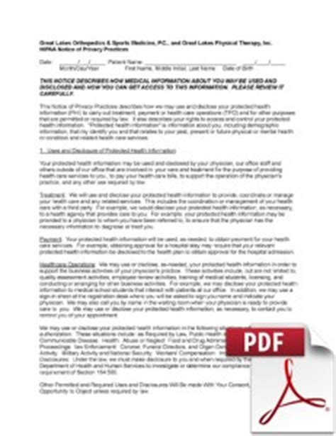 Notice Of Privacy Practices Template by 4 Best Images Of Hipaa Privacy Notice Template 2013