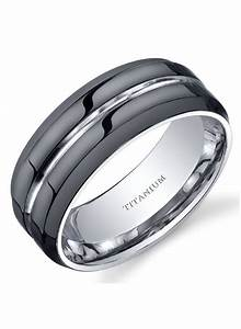 new modern style comfort fit mens 8mm black titanium With titanium men wedding ring