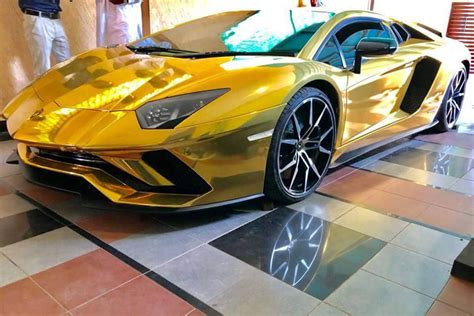 A Golden Lamborghini by A Gold Lamborghini Arrives In Pakistan