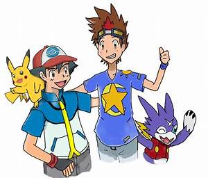 Crossover Pokemon and Digimon