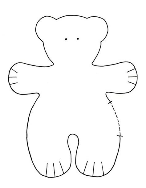 teddy template 1000 images about patterns on santa sack and felt trees