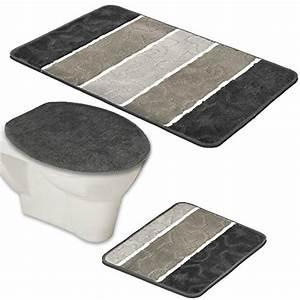 Badgarnitur 3 Teilig : entdecken sie badmatten garnitur set schwarz produkte ideen ~ Indierocktalk.com Haus und Dekorationen