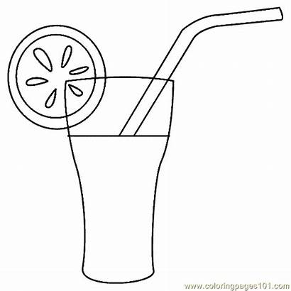 Coloring Drink Drinks Pages Coloringpages101