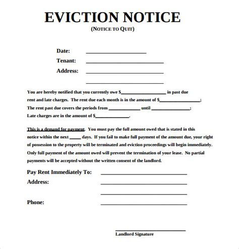 Eviction Notice Template 30 Day Eviction Notice Template Uk Templates Resume