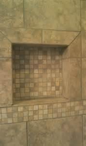 bathroom niche shelves