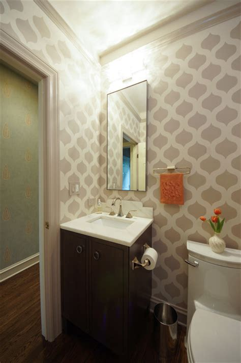 chic modern bathroom powder room shabby chic bathroom chicago by luxe showroom ltd