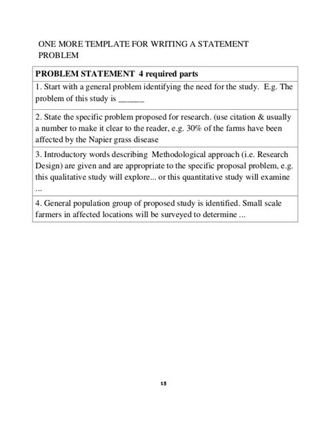 Examples Of Nursing Research Problem Statements Research Proposal
