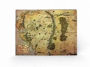 Acheter De La Terre : le hobbit carte de la terre du milieu panneaux en bois ~ Dailycaller-alerts.com Idées de Décoration