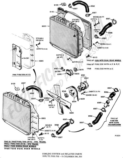 1998 Ford Ranger Cooling System Diagram by Ford Truck Technical Drawings And Schematics Section F