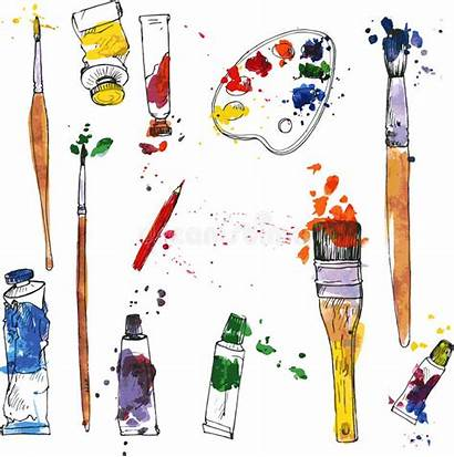 Materials Supplies Material Paint Arte Clipart Drawing