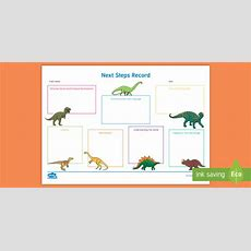 * New * Eyfs Individual Dinosaurthemed Next Steps Record  Eyfs, Early