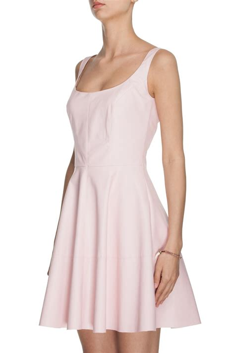 light pink summer dress faux leather summer dress light pink