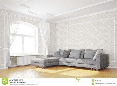 Minimal Living Room With Sofa Stock Illustration Image