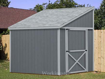 lean  shed plans   build  storage shed
