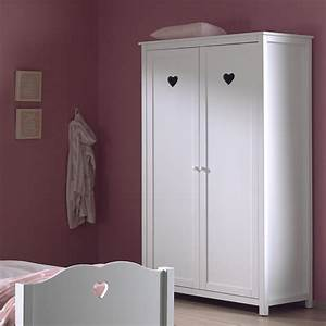 Armoire Blanche 2 Portes : armoire coeur blanche stella zd1 arm e ~ Teatrodelosmanantiales.com Idées de Décoration