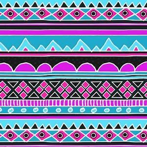 Blue Aztec Pattern Wallpaper